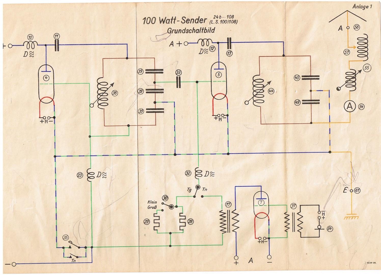 100 Watt Sender (LS 100/108) - Schaltbilder (Grund-, Telefonie ...