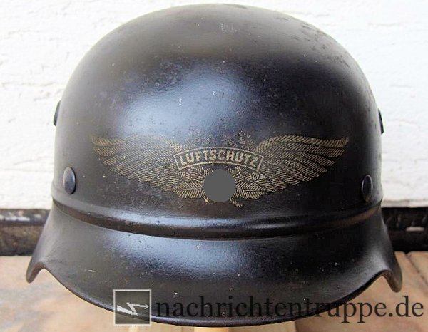 M40 reject helmet with anti air-raid emblem
