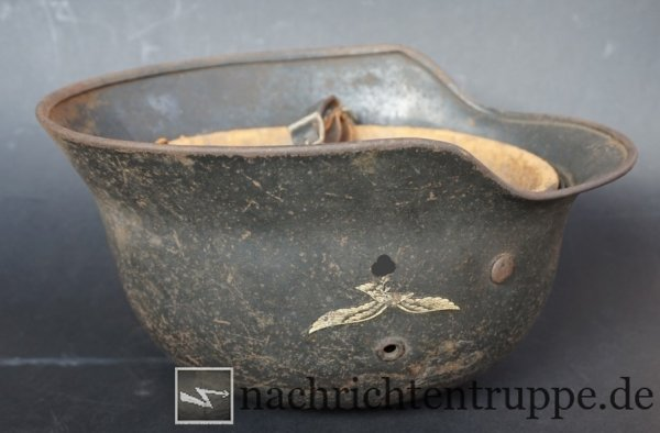A Luftwaffe steel helmet from the inheritance of a british veteran - it was most probably captured in the Netherlands